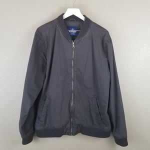 Old Navy Gray Men's Bomber Jacket XL